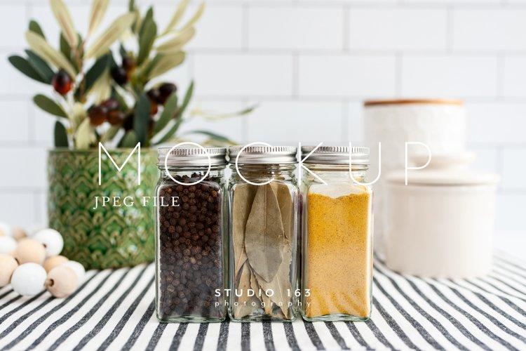 Spice Jar Mockup, Glass Jar Mockup, Stock Photo, JPEG example image 1