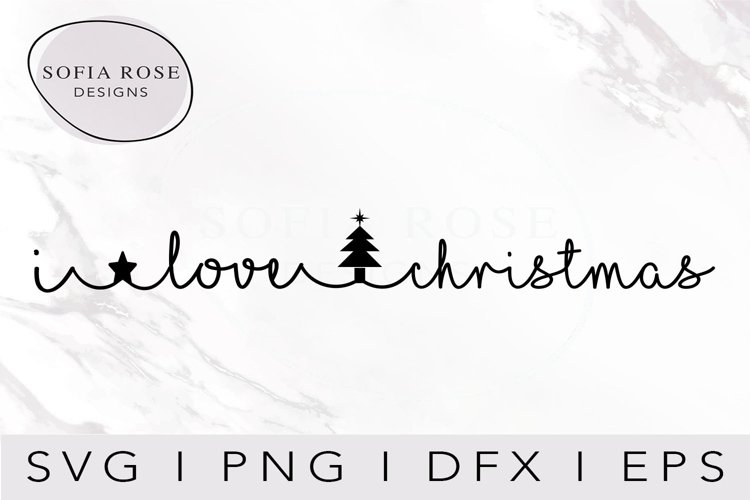 I love christmas SVG-Christmas SVG-Holiday SVG-Clip Art example image 1