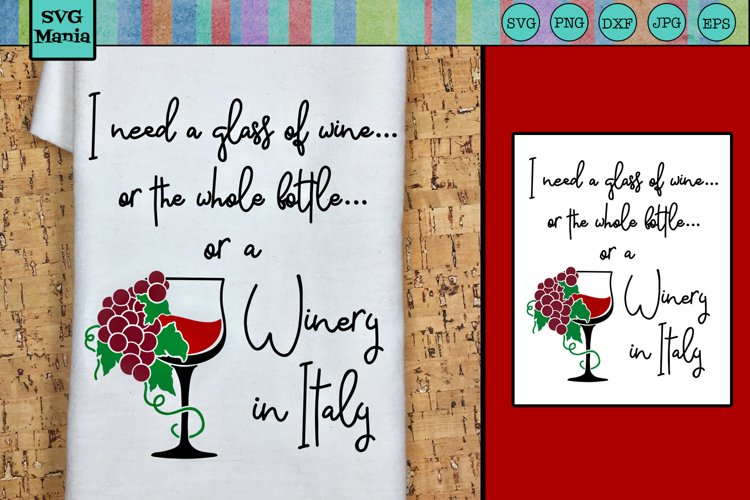 Funny Wine SVG, Wine Saying SVG, Wine Quote SVG, Wine Bag example image 1