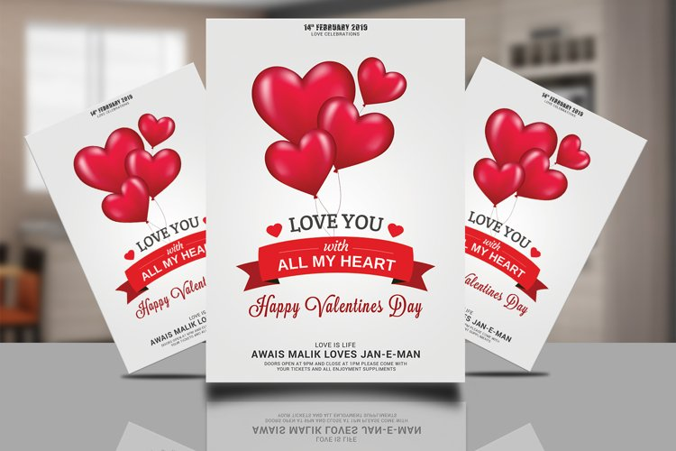 Valentines Flyer Psd Template example image 1