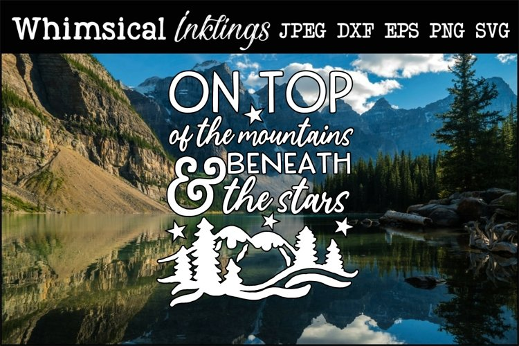 On Top Of The Mountains SVG example image 1