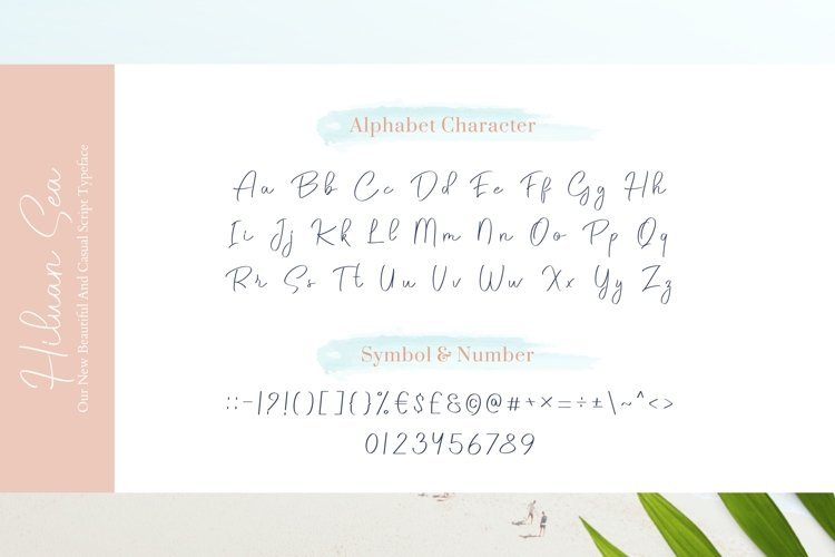 Hiluan Sea - Beautiful & Casual Script Typeface example image 1