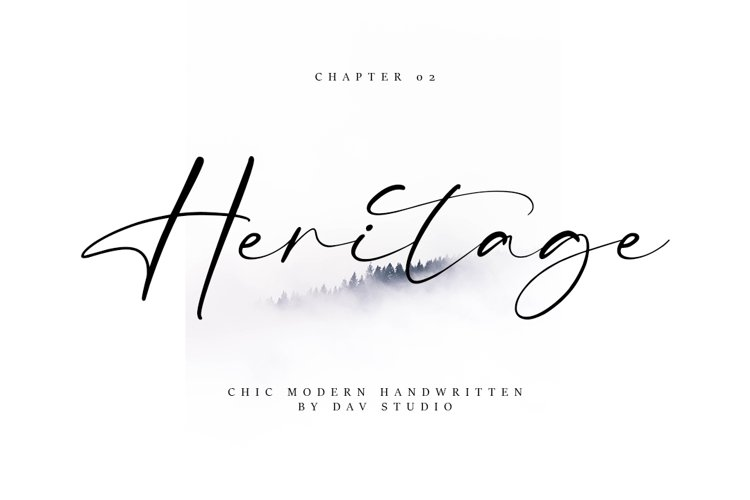 Heritage - Chic Modern Font example image 1