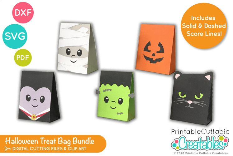 Halloween Treat Holder SVG Bundle