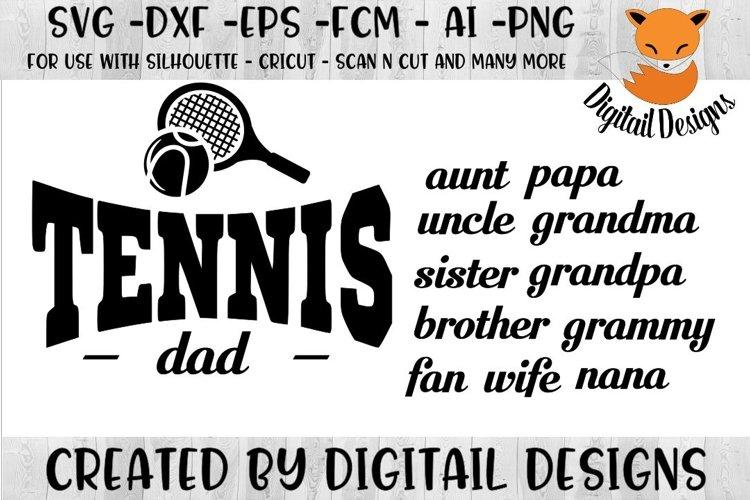 Tennis Family SVG - Silhouette - Cricut - Scan N Cut