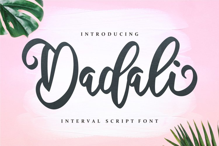 Dadali - Interval Script Font example image 1