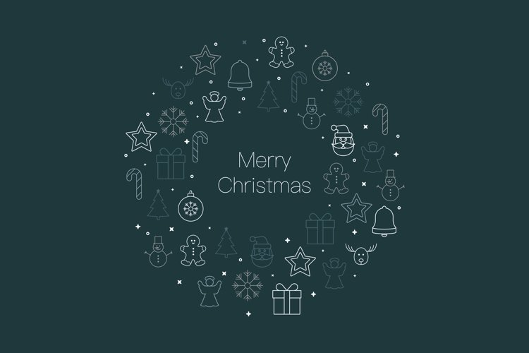 Christmas ornament icon background example image 1