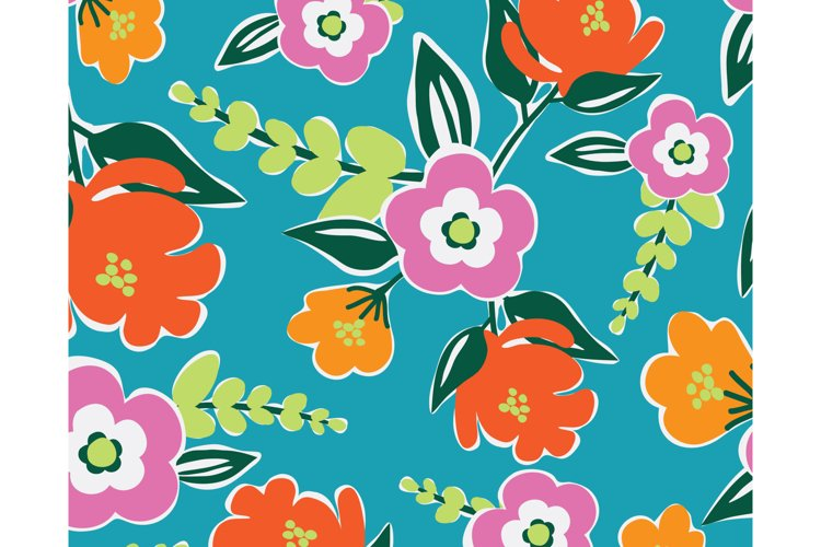 Bright Blooms Seamless Pattern example image 1