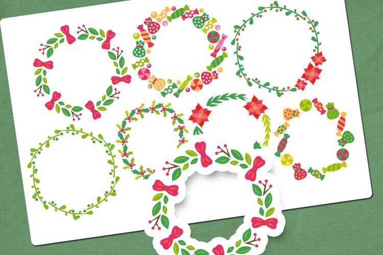 Christmas wreath illustrations clip art