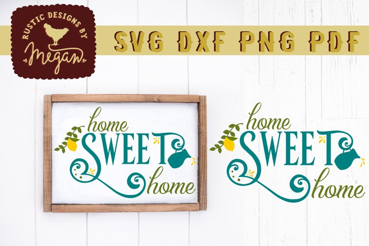 Home Sweet Home Lemon Summer Wood Sign SVG DXF Cut File example image 1