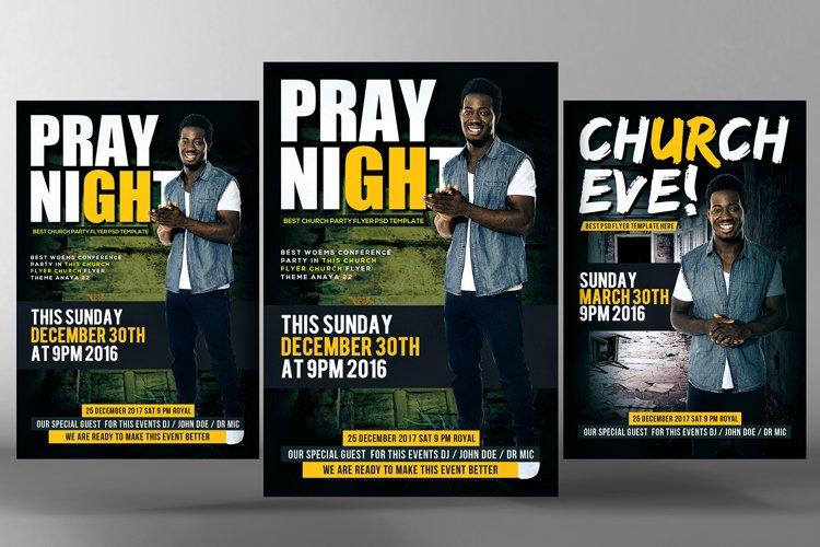 Prayer Night Church Flyer Psd example image 1