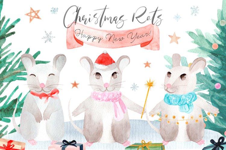 Christmas Rats. Symbol 2020 New Year example image 1