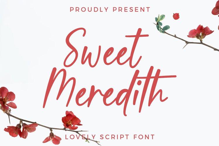 Sweet Meredith Script example image 1