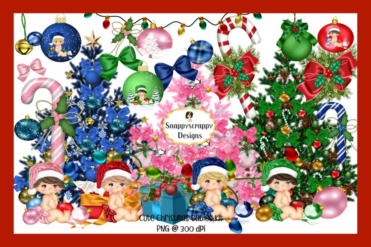 Baby's First Christmas Digital Scrapkit example image 1