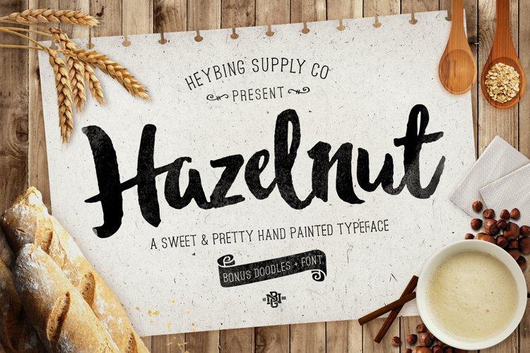 Hazelnut Typeface & Extras example image 1