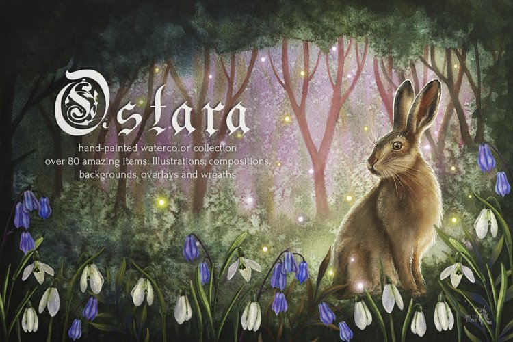 Ostara Celtic Spring Watercolor Set