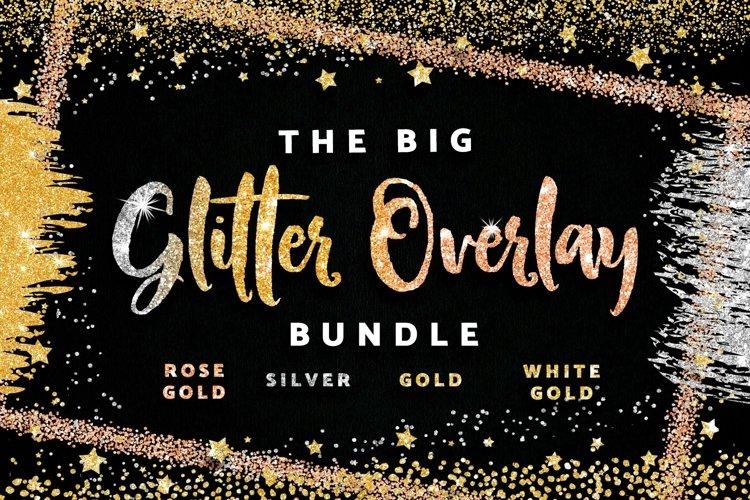 Gold Glitter Confetti Borders & Frames Brush Strokes Texture