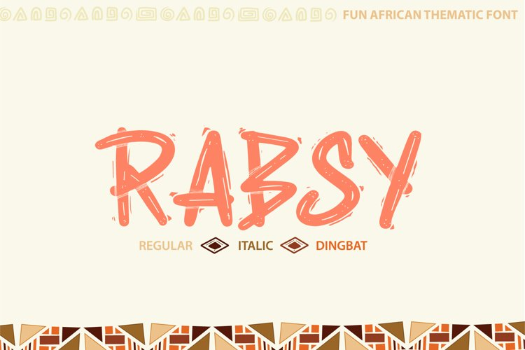 Rabsy African pattern font example image 1