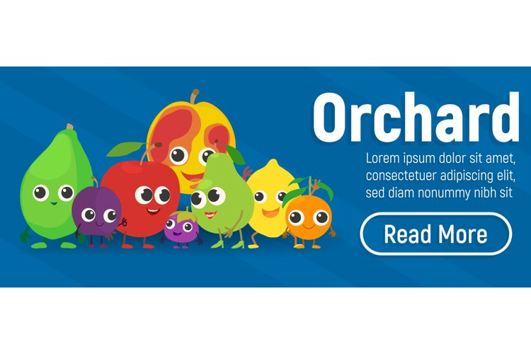 Orchard concept banner, isometric style example image 1