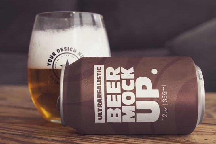 Beer Can Lying Mockup