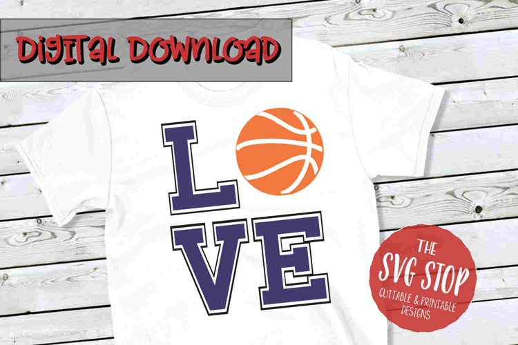 Love Basketball 2-SVG, PNG, DXF