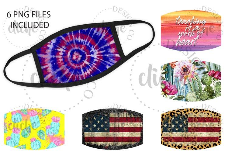 Mask Sublimation Design Bundle example image 1