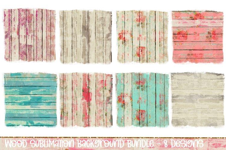 Sublimation Background Bundle, Distressed Wood Floral