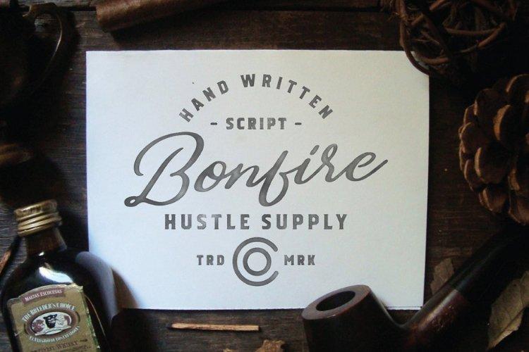 Bonfire - Brush Script example image 1