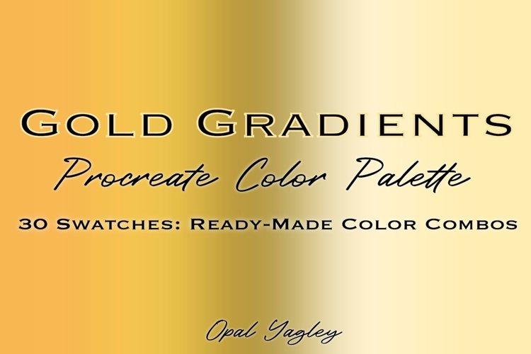 Gold Gradient Procreate Color Palette / Metallic Colors example image 1