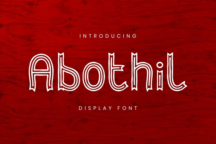 Web Font Abothil Font example image 1