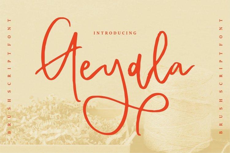 Geyala - Brush Script Font example image 1