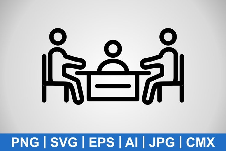 Vector Meeting Icon example image 1