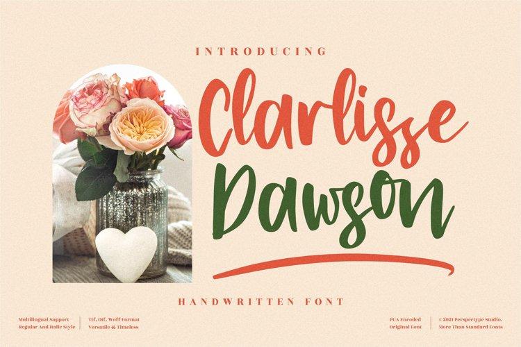 Clarlissa Dawson - Beautiful Handwritten Font example image 1