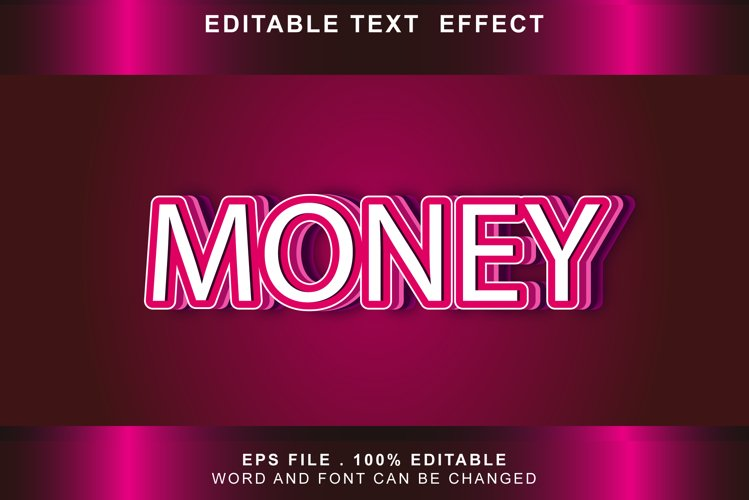 money Text Effects editable words and fonts can be replace