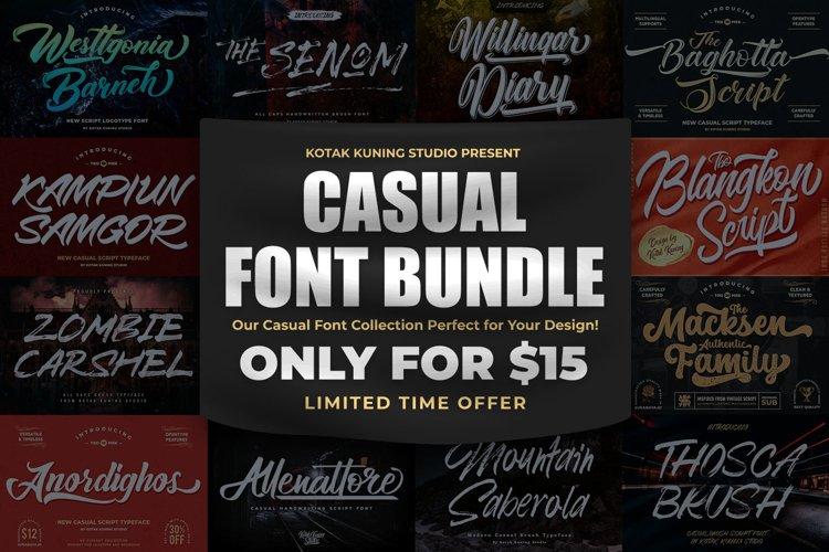 Casual Script Font Bundle example image 1