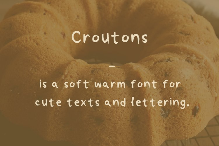 Croutons font example image 1