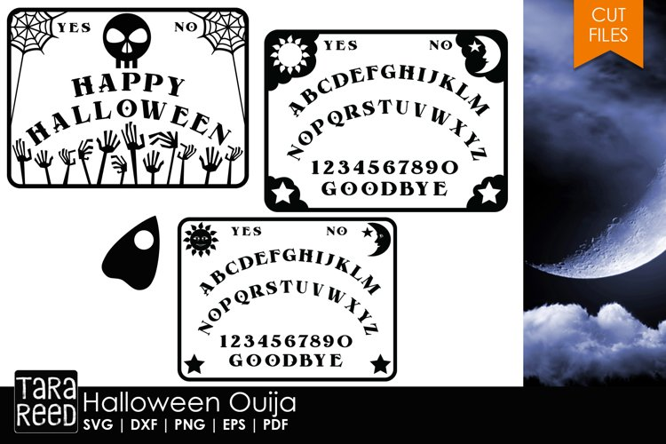 Halloween Ouija - Halloween SVG and Cut Files for Crafters example image 1
