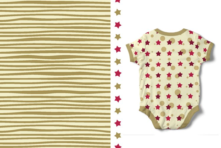 Khaki & Peony Patterns   Seamless Digital Papers example 3