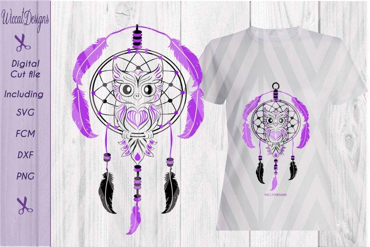 Dreamcatcher svg, Owl svg, digital cut file example image 1