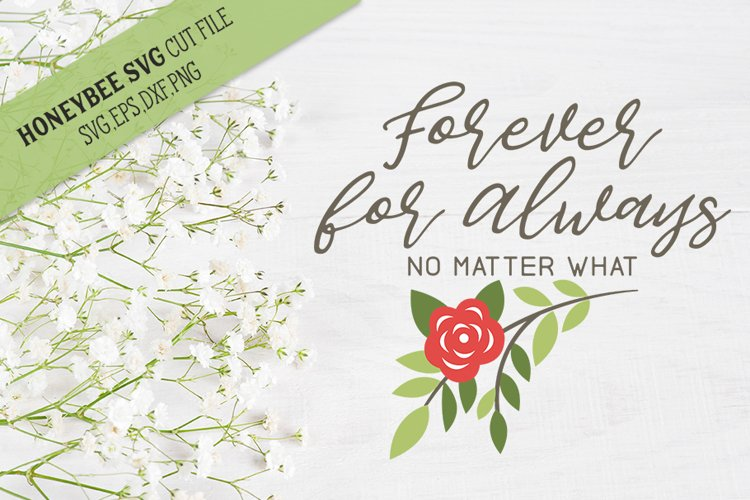 Forever For Always Romantic SVG Cut File example image 1