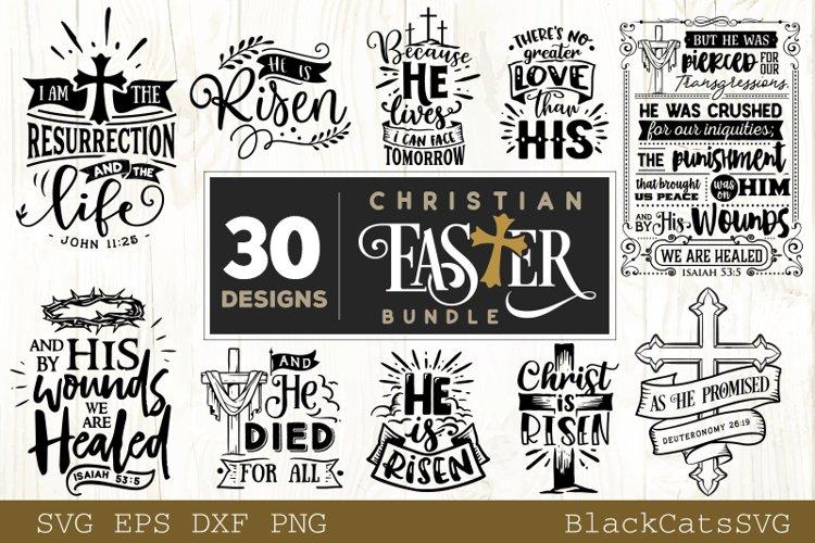Christian Easter SVG bundle 30 designs example image 1