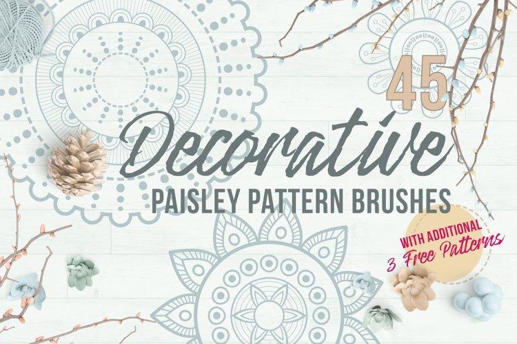 Decorative Paisley Pattern Brushes example image 1