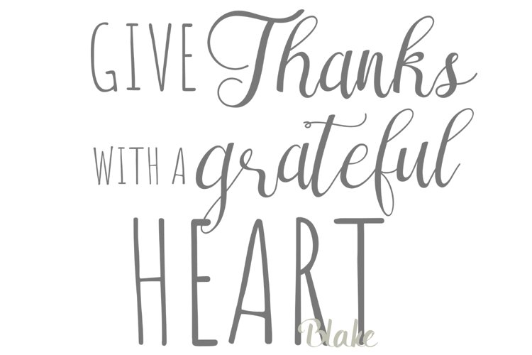 Thanksgiving svg Fall svg Give thanks t-shirt svg Grateful example image 1