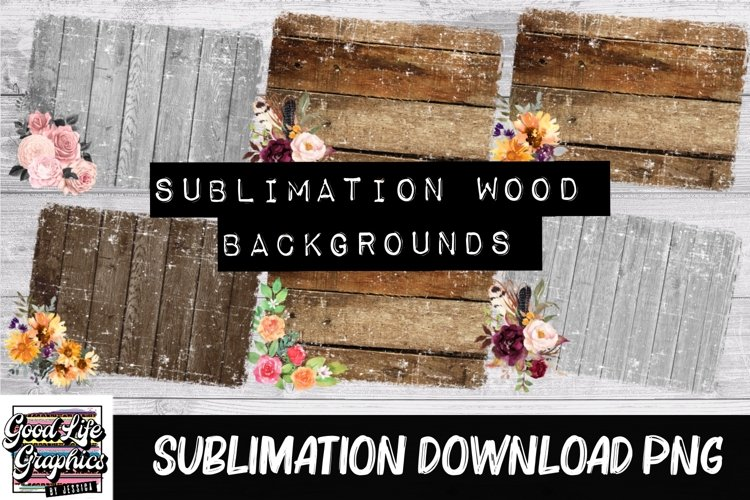 Sublimation wood backgrounds -PNG example image 1