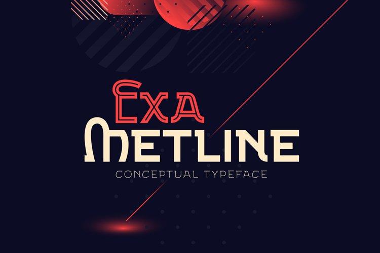 Exa Metline font example image 1