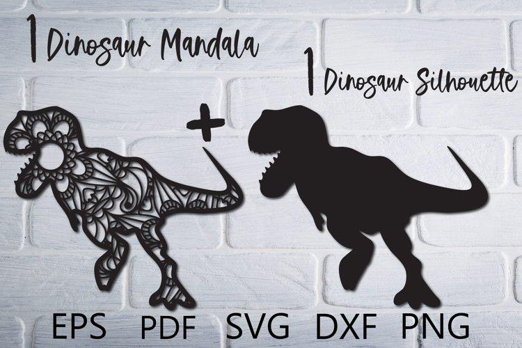 Dinosaur Mandala SVG Cut File for Cricut example image 1