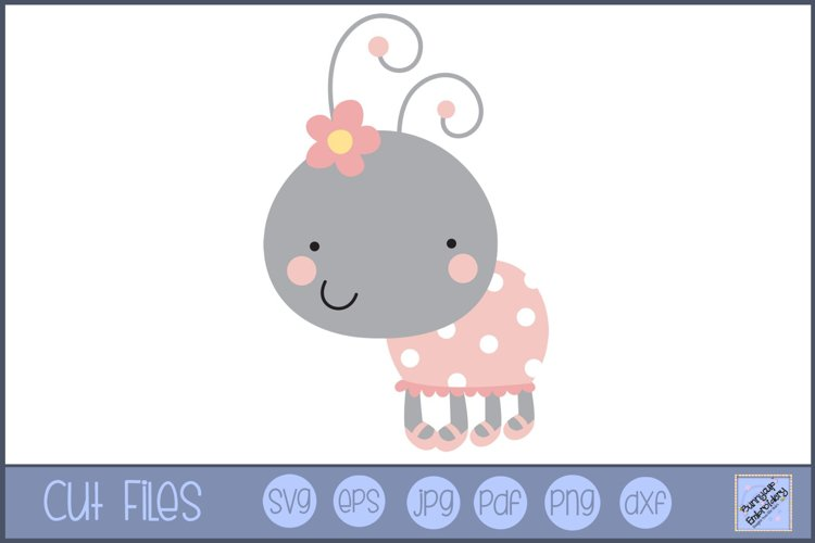 Flower Ladybug SVG | Cute Bug SVG example image 1