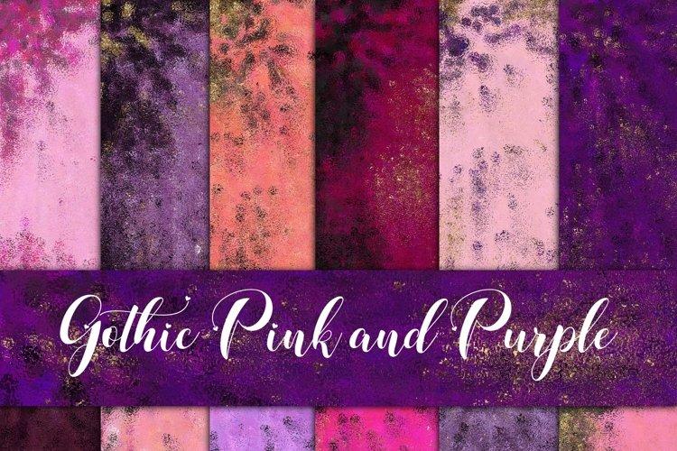 Gothic Pink & Purple Foils Digital Paper example image 1