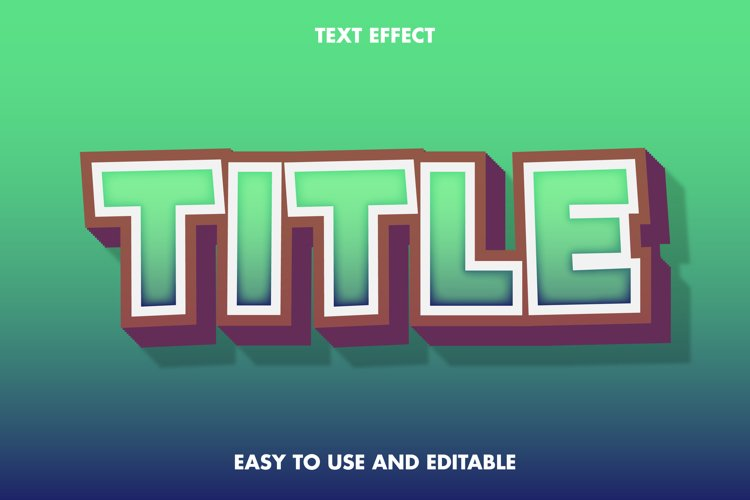Title text effect. editable and easy to use. premium vector example image 1