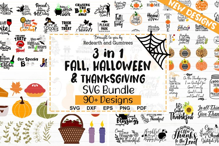 3 in 1 Fall,Halloween & Thanksgiving SVG bundle NEW DESIGNS